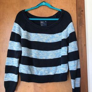American eagle blue striped sweater